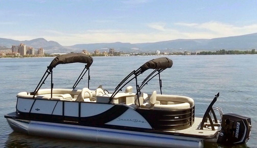 Our luxury 12 person pontoon boat is prepped for you and your crew to relax and tour the lake!